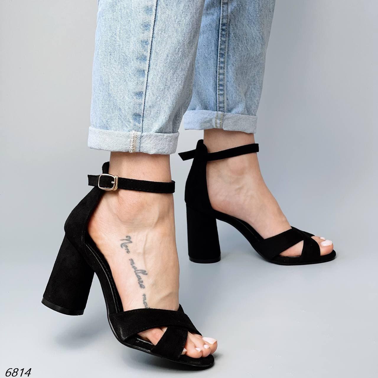 Женские босоножки на каблуке 6814 (ВБ)