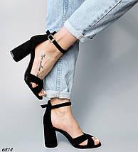 Женские босоножки на каблуке 6814 (ВБ), фото 2