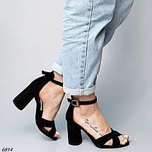 Женские босоножки на каблуке 6814 (ВБ), фото 3