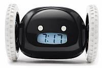 Тікає будильник на коліщатках Black 100859 Найкраща якість