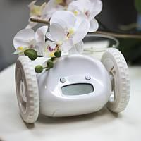 Тікає будильник на коліщатках White 122301 Найкраща якість