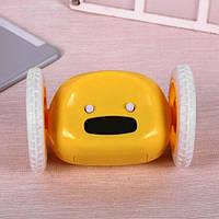 Тікає будильник на коліщатках Yellow 122304 Найкраща якість