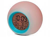 Годинник будильник світлодіодний хамелеон 122408 Найкраща якість