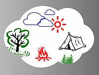 Магнітна дошка для маркера Хмара 109697 Найкраща якість