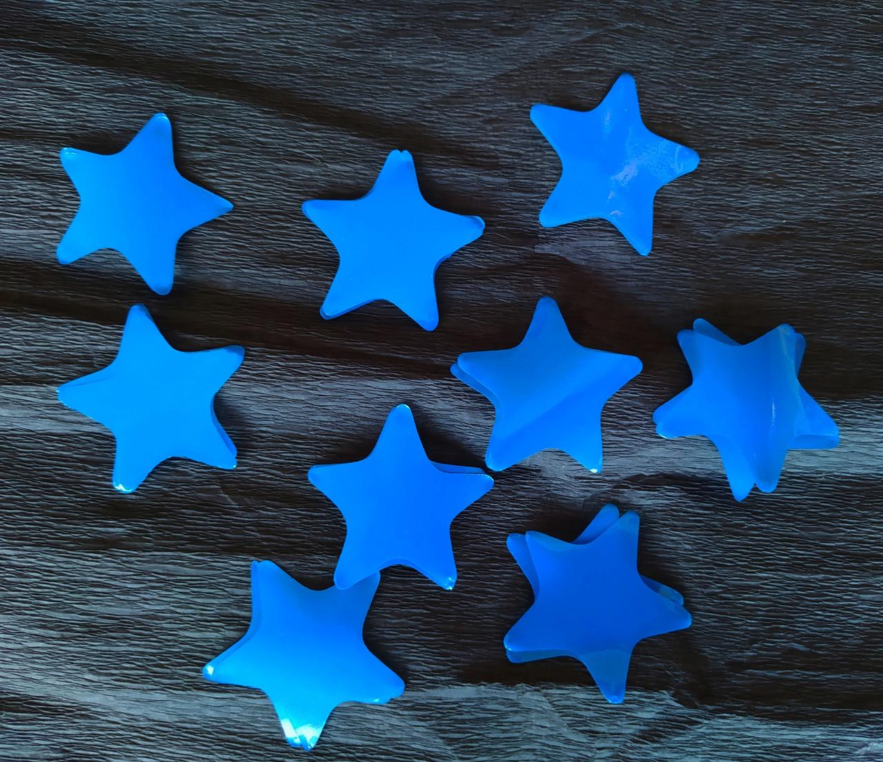 Аксесуари для свята конфеті Конфеті фігурне зірочки синя 50 грам