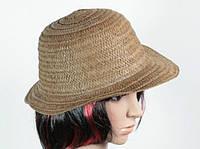 Солом'яний капелюх Бебе 29 см темно-коричнева 113078 Найкраща якість