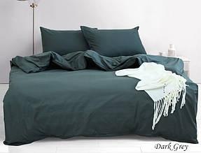 ТМ TAG Комплект постільної білизни євро Dark grey