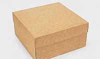 Подарункова коробка Крафт 20х20х10 см 122690 Найкраща якість