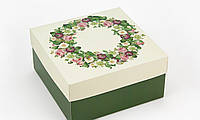 Подарункова коробка Весняний Вінок 20х20х10 см 123892 Найкраща якість