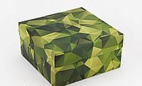 Подарункова коробка Камуфляж 20х20х10 см 123896 Найкраща якість