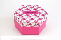 Подарункова коробка Шестигранна Життя прекрасне 20*10см 124075 Найкраща якість