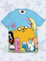 Яркая детская футболка Время приключений