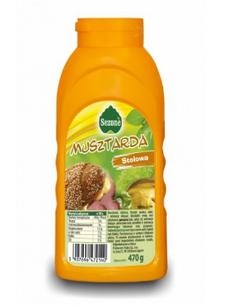 Гірчиця столова Sezone Musztarda, 470г, Польща, в пляшці, м'яка консистенція