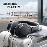 Гибридные наушники Anker Soundcore Life Q20 с активным шумоподавлением беспроводные накладные Bluetooth, фото 7