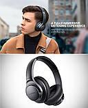 Гибридные наушники Anker Soundcore Life Q20 с активным шумоподавлением беспроводные накладные Bluetooth, фото 9