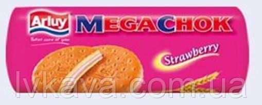 Печиво - сендвіч Megachok Arluy полуничне , 180 гр