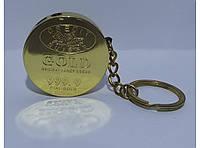 Зажигалка брелок Золотой слиток. Золотая монета  ал18