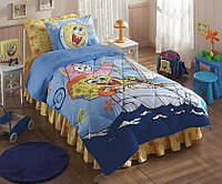 Покрывало  Tac Disney 160х220  SPONGE BOB BOAT