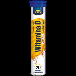 Витамины Kruger шипучие в таблетках растворимые с витамином D, 20шт, Польша, со вкусом лимона
