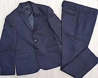 Шкільний костюм класичний підлітковий для хлопчика 8-12 років,колір синій
