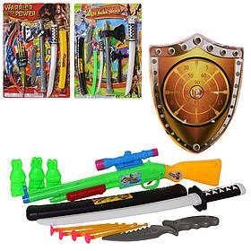 Набір лицаря 867-A7-А9-В12 меч40см, мішень, 3в(цибуля/автомат/сокира), на листі, 53-38-3см