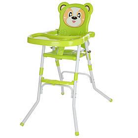 Стільчик 113-5 (1шт) для годування,2в1(стільчик),склад.,2-х точ.рем.безпо,регул.столик,зелений