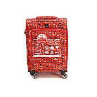 Легкий чемодан ручная кладь на 4-х кол Airtex яркий принт, фото 1