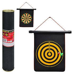 Дартс MS 0098 (24шт) 9 дюймів,магнітний,дротики з магнитом2шт,розмір поля34,5-25см,двухстор,в тубусі