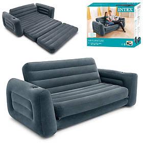 Велюр диван 66552 (2шт) в розкладеному вигляді 203-224-66см,підстаканник, в кор-ке