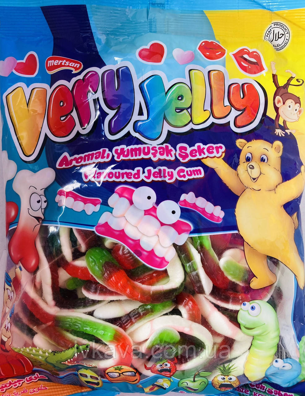 Мармеладні цукерки Змії Very Jelly Mertsan , 900 гр