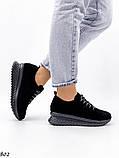 Женские кроссовки черные из натуральной замши, фото 3