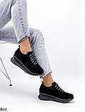 Женские кроссовки черные из натуральной замши, фото 4