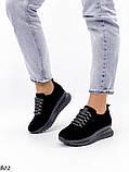Женские кроссовки черные из натуральной замши, фото 2