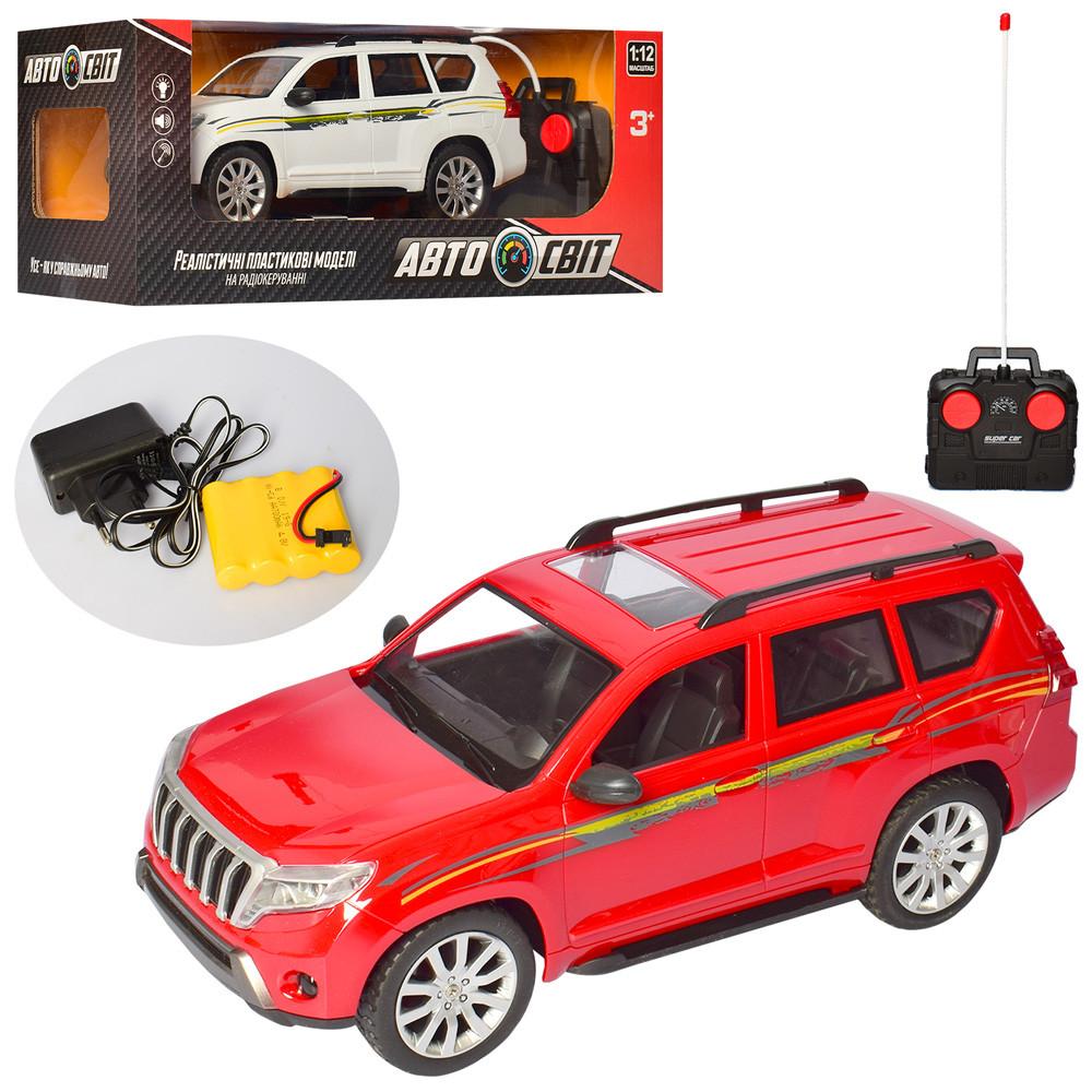 Машина AS-2203 (9шт) АвтоСвіт, 1:12, р/у, аккум,32см, свет,резин.колеса, 2цв, в кор-ке,46,5-18-19см