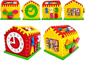 Будиночок-сортер, годинник, рахунки 50-301 Киндервей