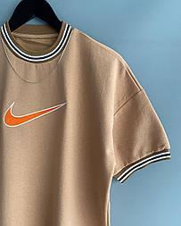 😜 Футболка - Мужская футболка NIKE Old School беж / футболка чоловіча NIKE Old School бежева