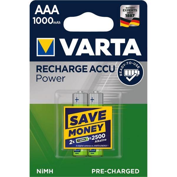 Батарейка Батарейка VARTA RECHARGEABLE ACCU AAA 1000mAh BLI 2 NI-MH (READY 2 USE)