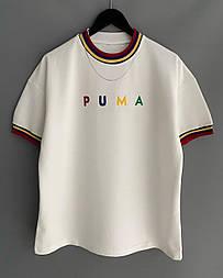 😜 Футболка - Мужская футболка PUMA белая / футболка чоловіча PUMA біла
