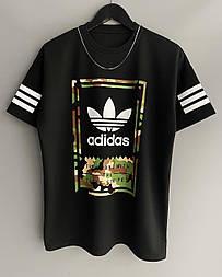 😜 Футболка - Мужская футболка Adidas черная / футболка чоловіча Adidas чорна