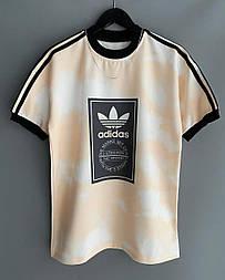 😜 Футболка - Мужская футболка Adidas белая / футболка чоловіча Adidas біла