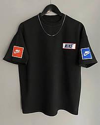 😜 Футболка - Мужская футболка NIKE Old School черная / футболка чоловіча NIKE Old School чорна