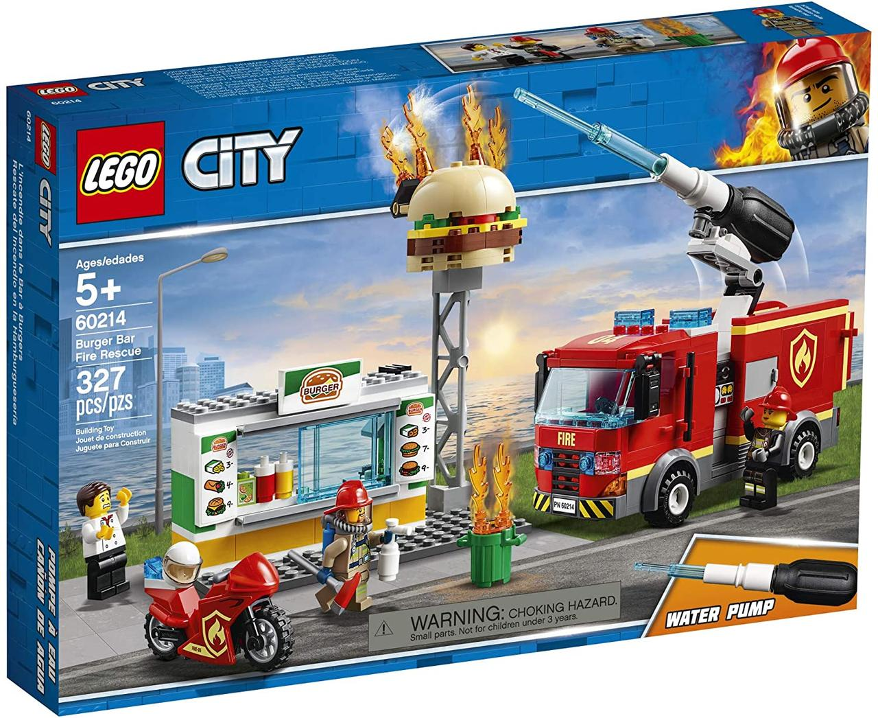 Конструктор Lego City 60214 Пожежа в бургер-кафе