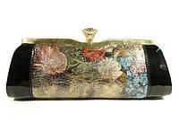 Клатч-сумочка женская натуральная кожа черная Applaud 21599