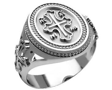 Кольцо серебряное Православное 30308