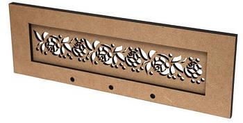 Заготовка для декорированния Rosa Вешалка для полотенец Цветочный орнамент 40*13*1,2 см GPТ50082944