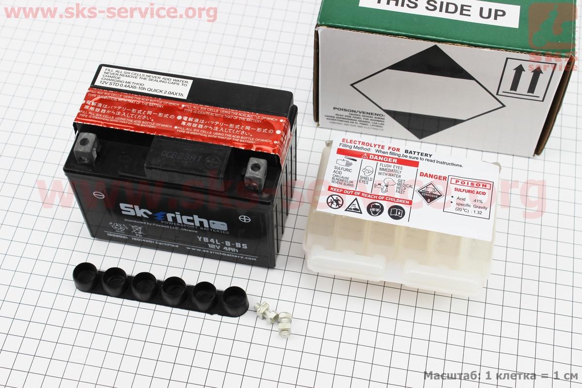 Акумулятор 4Аһ YB4L-B-BS кислотний (L120*W70*H90mm), від 8шт -3% (301485)