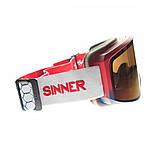 Маска гірськолижна Sinner Sin Valley Red Blue-Red Mir + Orange (SIGO-183-65-58), фото 2