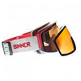 Маска гірськолижна Sinner Sin Valley Red Blue-Red Mir + Orange (SIGO-183-65-58), фото 3