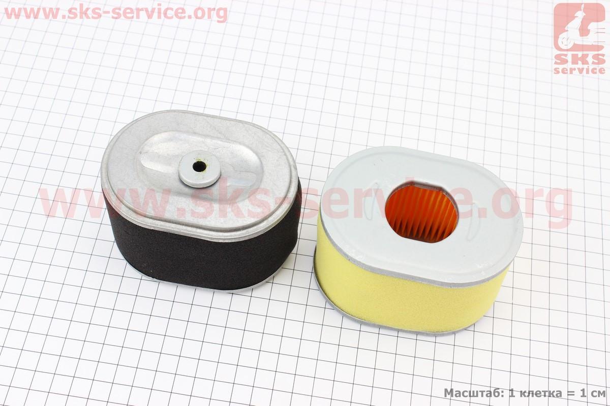 Фільтр повітряний - елемент (паперовий 100х70х70мм) 168F/170F (601160)