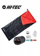 Спальний мішок HI-TEC Rett 180x75 Right Zip Чорний з червоним 74516-JET